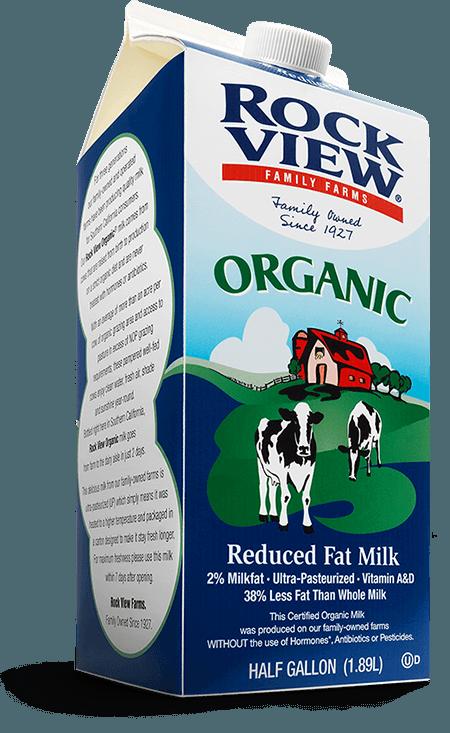 Rockview® Organic Reduced Fat Milk (2%)